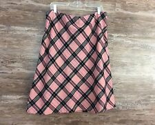 Women's Gap Wool Blend Plaid Lined Skirt Size 18 A Line Long