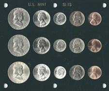 1952 P-D-S US Silver Mint set-15 coins- Brilliant Uncirculated in Capital holder