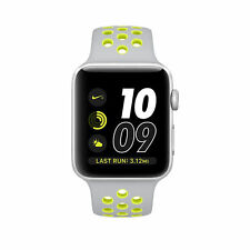 Apple Watch Nike+ 42mm Silver Aluminum Case Flat Silver/Volt Sport Band - (MNYQ…