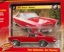 1965 Buick Riviera Red Diecast Johnny Lightning Classic Gold Playing Mantis
