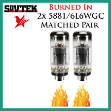 New 2x Sovtek 5881 / 6L6WGC | Matched Pair / Duet / Two Tubes | *Burned In*