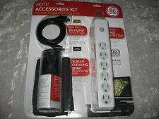 GE HDTV Accessories Kit Surge Protector Screen Cleaning Spray HDMI Cable NEW!