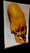 Ancient Aliens Skull Photo Art in 3-D poster leather like feel 11x17