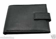 MENS SLIM REAL LEATHER CREDIT CARD, NOTE, ZIP COIN POCKET WALLET PURSE -121NZ