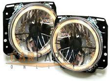 Cristal claro faros ANGEL EYES NEGROS + FK para golf 2