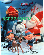 Rudolph Red Nosed Reindeer TV signed cast Billie Richards Paul Soles voices RARE