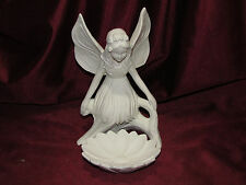 Ceramic Bisque Sitting Fairy with Flower Dish Ready to Paint U Paint Pre-Order