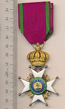 GERMANY WWI Saxe Ernestine GOLD House ORDER 1st Class KNIGHT in Gold + Ribbon RR