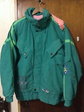 Vintage Elho Super Comp Retro Neon Freestyle Snowboard Ski Jacket Medium 80s 90s