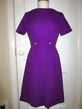 WOMEN SMALL MEDIUM CLASSIC VINTAGE INDIGO PURPLE POLYESTER DRESS COSTUME THEATER