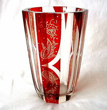 Glas Vase Böhmen Karl Palda Haida Art Deco um 1925