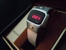Vintage Time Computer Pulsar Mens Dress LED LCD Digital Watch-all boxes, papers!