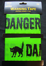 Halloween Decorations Danger Keep Out Warning TAPE FREE P&P