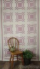 Pretty Lavender Purple and White Vintage 1930-40s QUILT Puss in the Corner