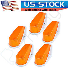 5pcs Roof Cab Marker Running Light Amber Lens Base Housing Kit For Ford Pickup