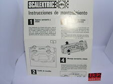SCALEXTRIC EXIN FOLLETO INSTRUCCIONES DE MANTENIMIENTO