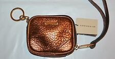 NWT BURBERRY $375 GRAINY LEATHER COIN CASE WITH KEYRING