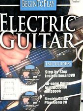Begin to Play: Electric Guitar DVD / CD & BOOK, NEW! FREE SHIP ! LEARN ,CORDS