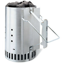 Weber BBQ Rapidfire Chimney Charcoal Starter Lighter Grill Accessory Fire Cook