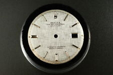 Genuine Rolex DateJust Dial Silver SS Pie Pan Non Quickset 1601 1603 D0060