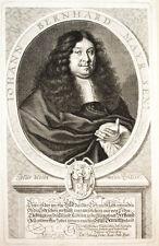c1670 Mayr Johann Bernhard Kupferstich-Porträt Sandrart Werenfels Nürnberg