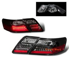 LED Tail Lights FOR 2007-2009 Toyota Camry L/LE/SE/XLE Brake BLACK Taillights