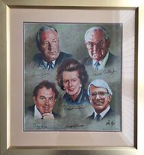 Firmato Ritratto di cinque primi ministri britannici da Geoffrey T LEGNO