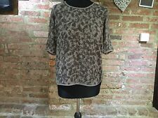 Capsule Collection John Lewis Brown Fern Print Top /  size 14