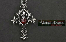 The Vampire Diaries Gothic Fantasy Cross Necklace Silver Colour