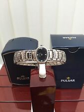 Ladies PULSAR by SEIKO watch IDEAL GIFT SWAROVSKI Black Dial RRP £110 (pu41