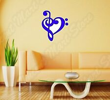 "Music Note Heart Piano Guitar Wall Sticker Room Interior Decor 22""X22"""
