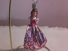 """Old World Chistmas """"Pink Princess"""" Glass Ornament"""