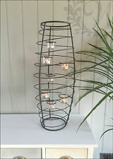 Metal Vase 7 Cup Tea Light Candle Holder Decoration Lantern Vintage Modern