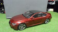 BMW M6 Rouge métal indianapolis 1/18  KYOSHO 80430398134 voiture miniature