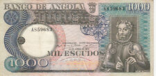 Billet banque ANGOLA 1000 escudos 1973 camoes état voir scan 683