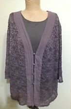 SUSAN BLAKE MINK LACE BLOUSE AND CAMI  SIZE 20