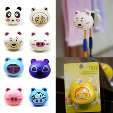 New Cartoon Bathroom Toothbrush Holder Stand Mount With Suction Grip Wall Rack