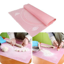 Silicone Baking Cake Dough Fondant Rolling Kneading Mat Scale Table Grill Pad US