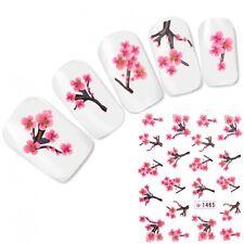 Tattoo Nail Art Glitzer Kirschblüten Japan Flower Aufkleber Nagel Sticker Neu!