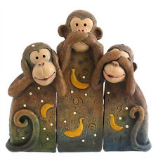 NEW See No, Speak No, Hear No Evil Monkeys Statue Ornament Monkey