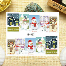 Nail Art Manicure Water Transfer Decal Stickers Christmas Santa Claus YB927