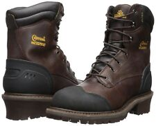 New in Box Chippewa Mens 8 Inch Chocolate Oiled WP Ins Logger Boot Brown 11 M