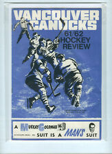 1961-62 VANCOUVER CANUCKS WHL SIGNED PROGRAM WITH 16 AUTOGRAPHS/SIGNATURES RARE
