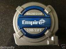 Empire magnesio 10 METRI/33 piedi di alta qualità TAPE MEASURE-NUOVISSIMO