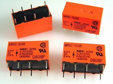 NEC MR82-5USR DIL Relay PCB Mount 5VDC Coil 1A 30VDC DPCO 4 Pieces OLA1-07