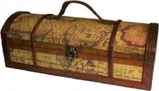 Exquisite antique-style wine boxes-Level Map Design-Wine Box  32x12x11 (cm