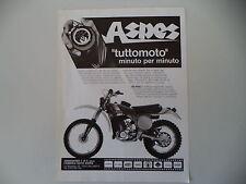 advertising Pubblicità 1978 MOTO ASPES 125 RGC