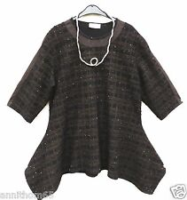 NEU D'celli Herbst Tunika Tunic Tunique Tunica XXL 52 54 Lagenlook *