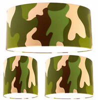 Lampshade Handmade with Rasch Camouflage Boys Wallpaper FREE P&P