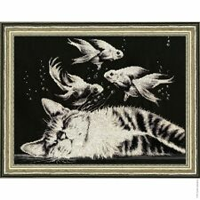 COUNTED CROSS STITCH KIT GOLDEN FLEECE VASYA'S DREAM PETS CATS NEW